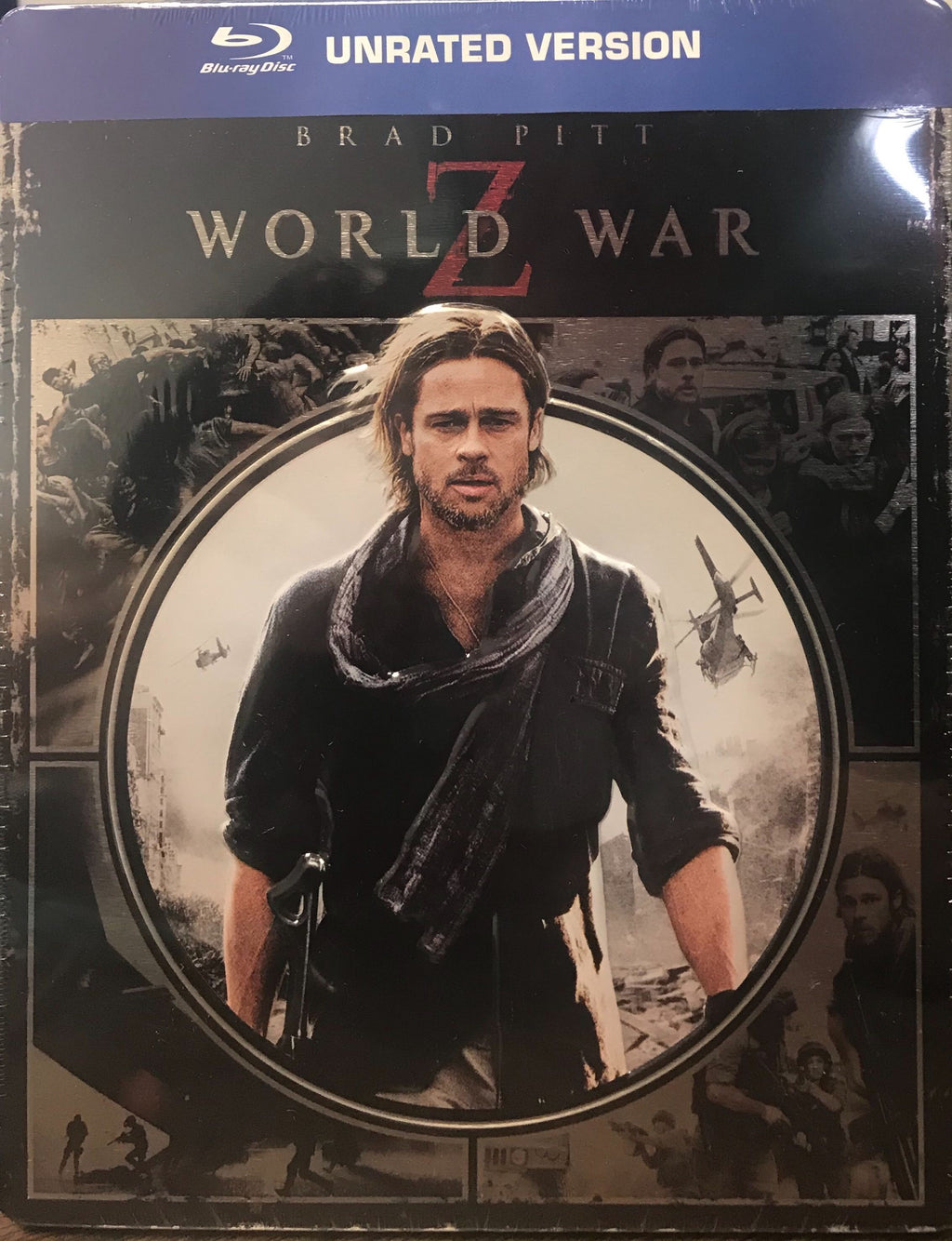 World War Z (Unrated) Blu-ray Embossed Metalpak Steelbook (DENTED - MINOR)