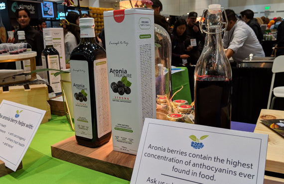 Aronia Treasure booth at the Specialty Food show, San Francisco 2019