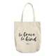 Be Brave Be Kind -  Denim Woven Cotton Tote