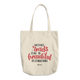 Difficult Roads Lead To Beautiful Destinations -  Denim Woven Cotton Tote