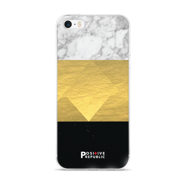 iPhone SE - Tri-Color Gold Marble