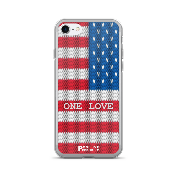 iPhone 7 cases - American Pride Collection- One Love - Positive Republic