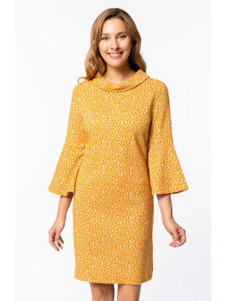 Lexi Jacquard Dress - Saffron Mini Animal