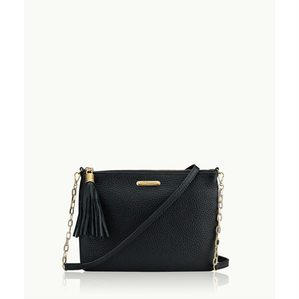 Chelsea Crossbody - Black Pebble Grain