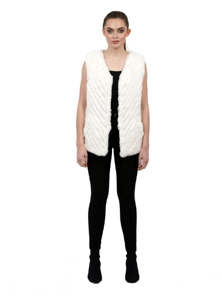Velma Faux Fur Ultra Plush Vest - White