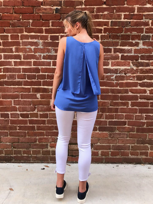 Lila Sleeveless Top -  Blue Jean