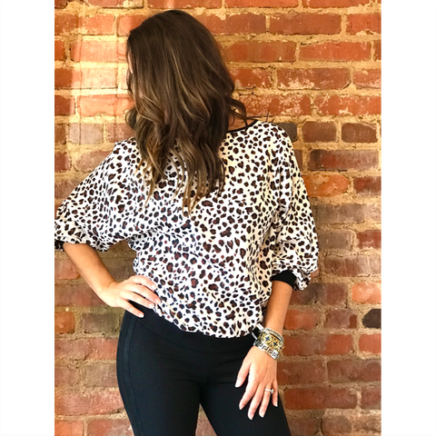 Off Shoulder Top - Flame Print