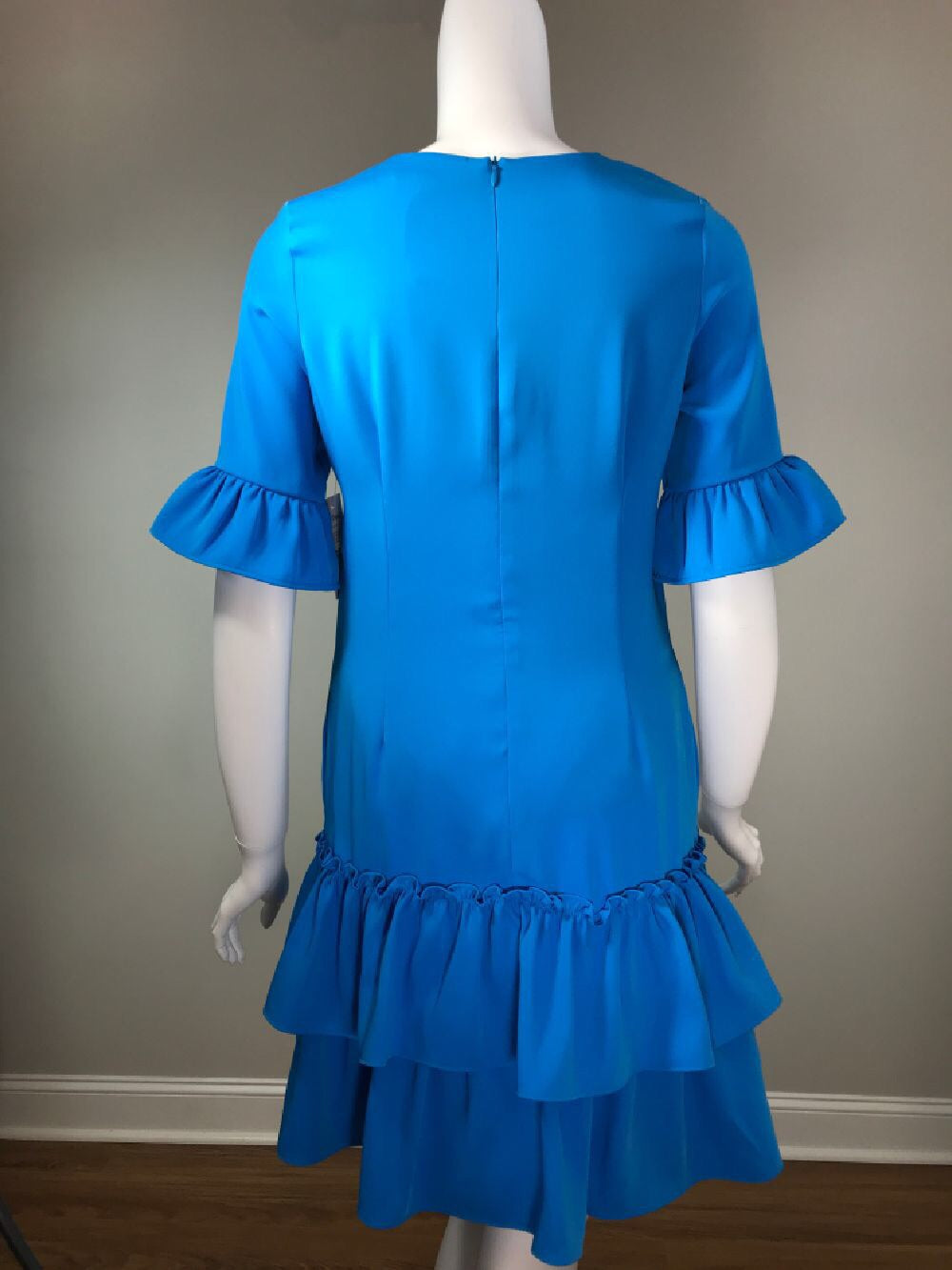 Double Ruffle Dress - Turquoise