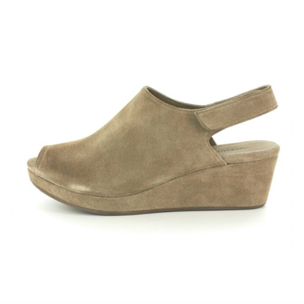 Yana Suede Wedge- Taupe