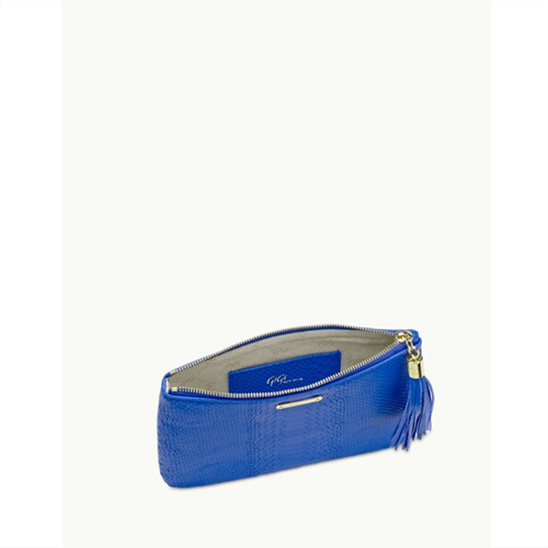 All In One Bag - Cobalt Embossed Python