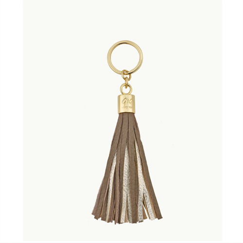 Tassel Key Chain - Driftwood and Gold