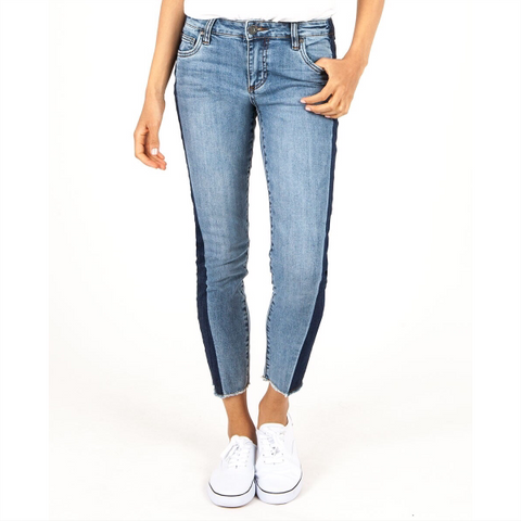 Morgan Wide Cuff Crop - Chapman Wash