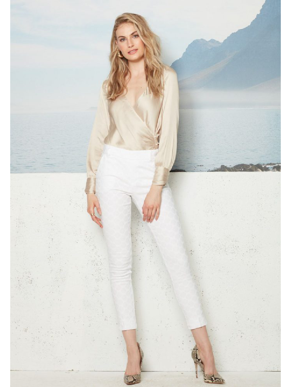 The Gwyneth Circles Pant - White