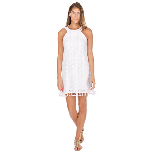 Daisy Eyelet Dress - White