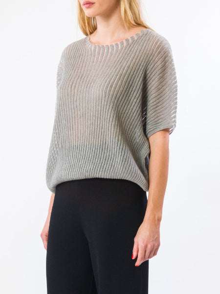 Flare Top - Grey/Silver