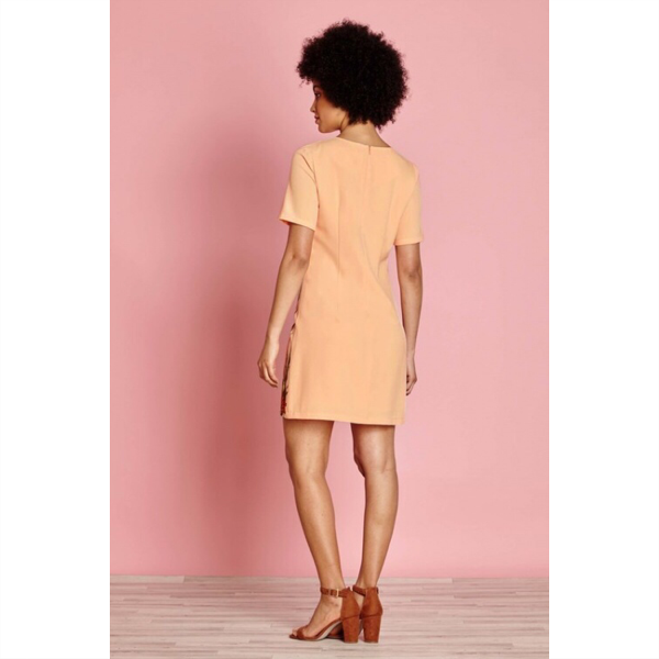 Giraffe Tunic Dress - Light Peach