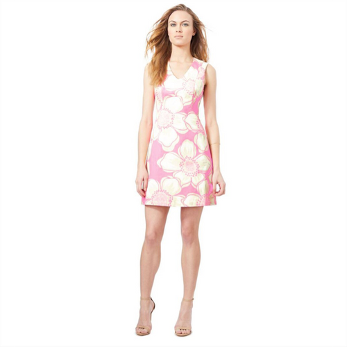 Fern Dress - Pink Hibiscus