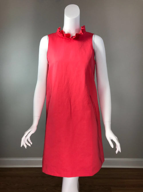 Stella Ruffle Neck Dress - Watermelon