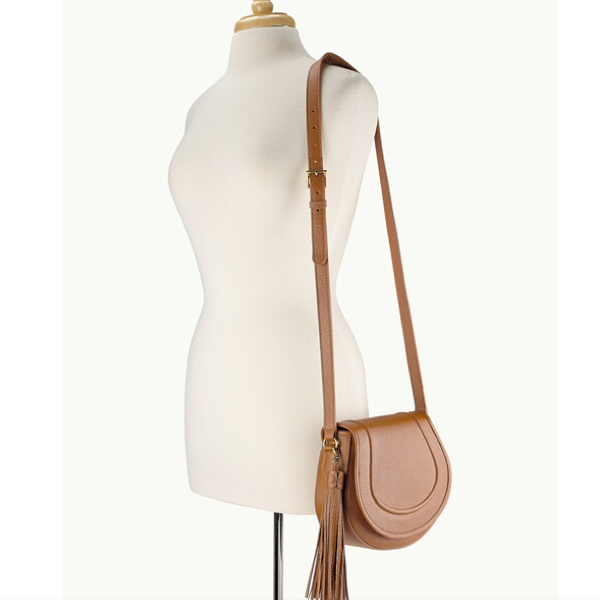 Jenni Saddle Bag - Sable Pebble Grain