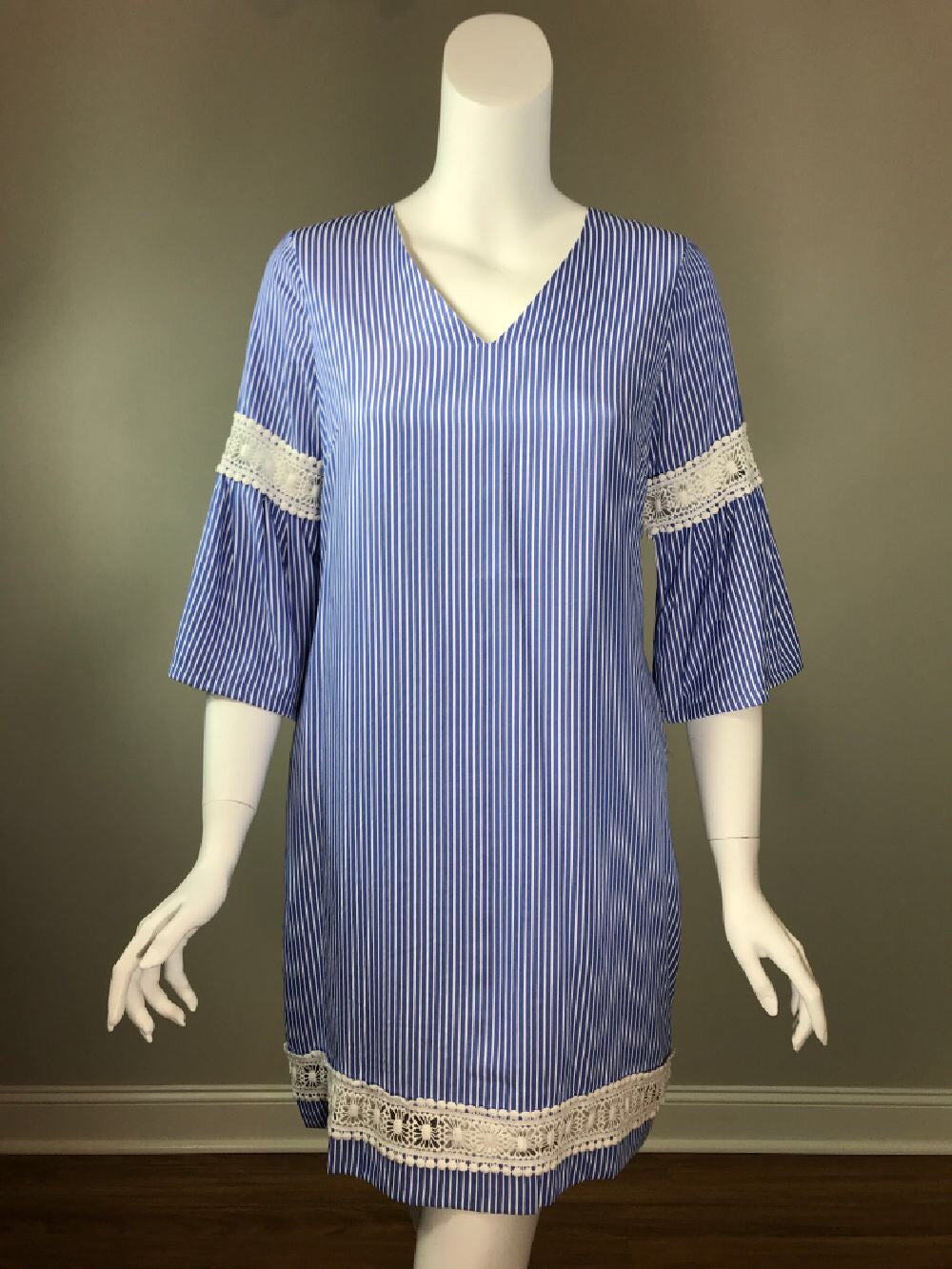 Blue Stripe Shirting Dress