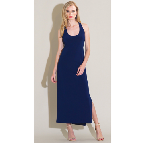 Racer Back Maxi Dress - Navy