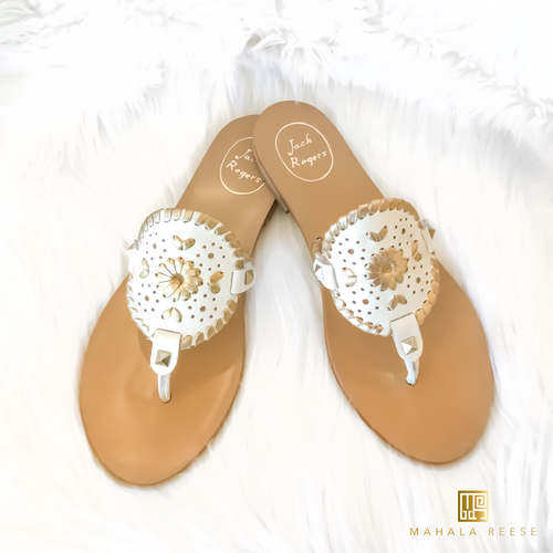 Georgica Sandal - White/Gold
