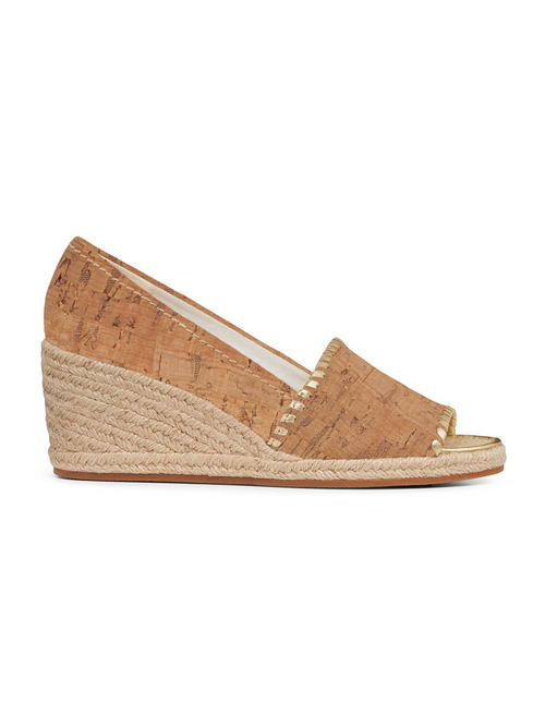 Palmer Wedge - Natural Cork/Gold
