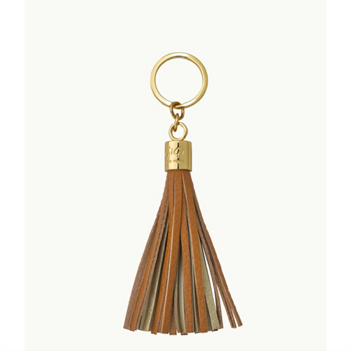 Tassel Key Chain - Sable and Gold