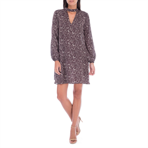 Mykyla Printed Longsleeve Dress - Burgundy Print