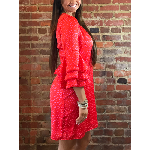 Nettie Dress -  Red Dottie