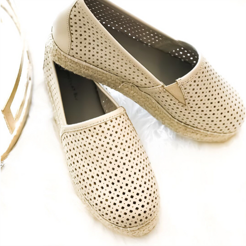 Brett Espadrille - Cream Leather