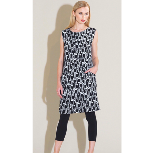 Mod Pocket Dress - Black/White