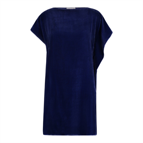 Eva Velvet Dress - Blue