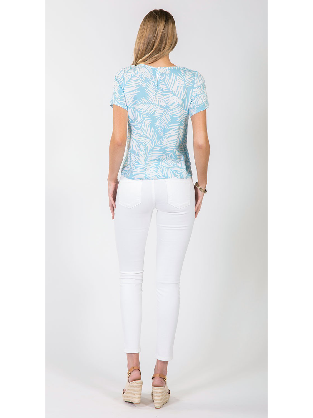 Raleigh Top - Powder Blue White Paradise