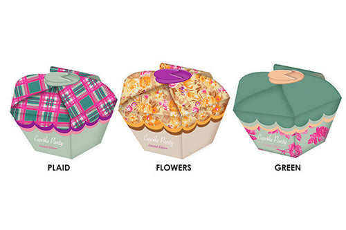 Cupcake Panty 3 Pack Bikini - Plaid/Green/Flowers