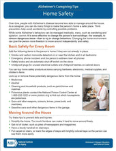 Home Safety: Alzheimer's Caregiving Tips (NIA)