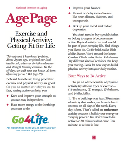 AgePage - Exercise and Physical Activity: Getting Fit for Life