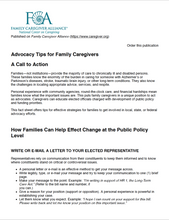 Advocacy Tips for Family Caregivers | Family Caregiver Alliance