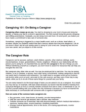 Caregiving 101 | Family Caregiver Alliance