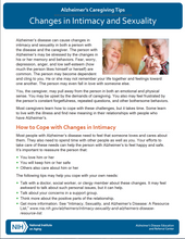 Changes in Intimacy: Alzheimer's Caregiving Tips (NIA)
