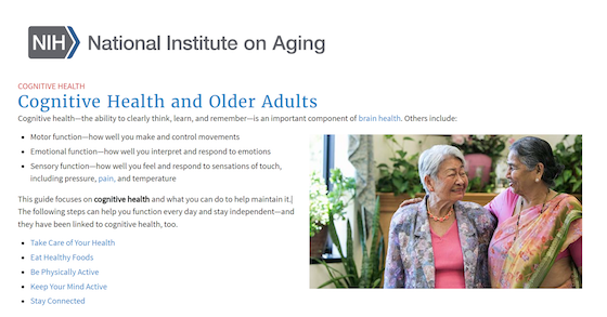 Cognitive Health and Older Adults (NIA)