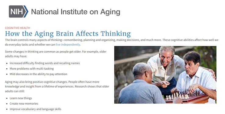 How the Aging Brain Affects Thinking (NIA)