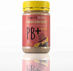 Macro Mike Dark Chocolate PB+ Powdered Peanut Butter (180g Jar) - Fit Fast Food Geelong