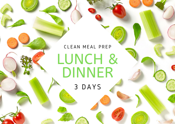 C L E A N | 3 Days | 6 REG MEALS - Fit Fast Food Geelong