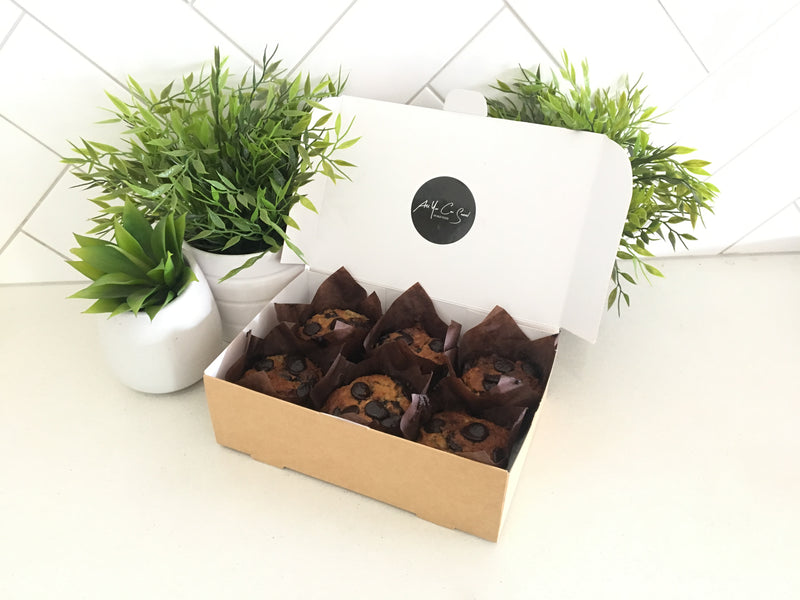 Choc-Banana Muffin x 6 - Fit Fast Food Geelong