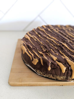 Chocolate Peanut Butter 'Cheesecake' (Full size or Mini) - Fit Fast Food Geelong