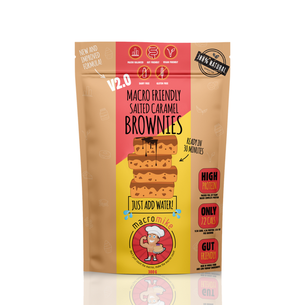 Macro Mike Salted Caramel Brownie Mix - Fit Fast Food Geelong