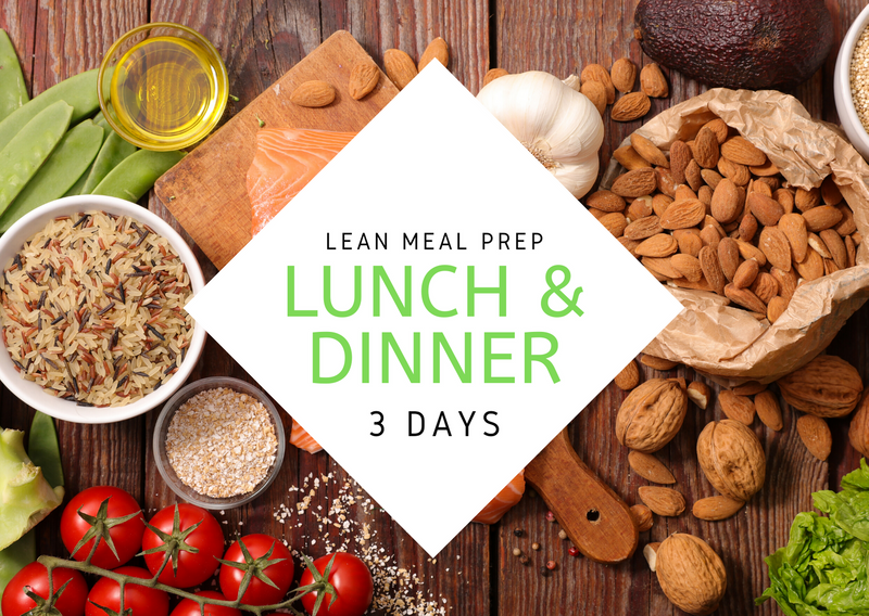 L E A N | 3 Days | 6 REG MEALS - Fit Fast Food Geelong