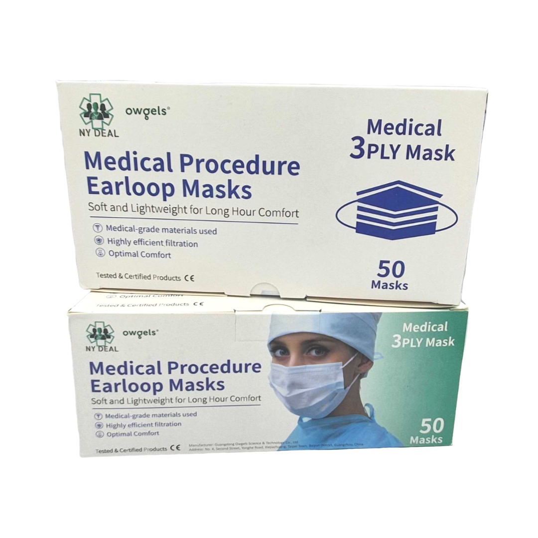3 ply disposable Face Masks (ear loop)