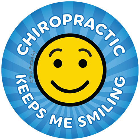 Chiropractic Keeps me Smiling Sticker